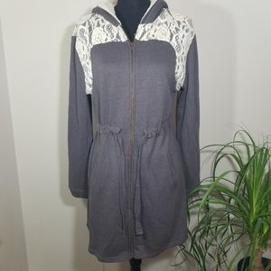 Jasmine & Ginger hooded Terry cloth coat